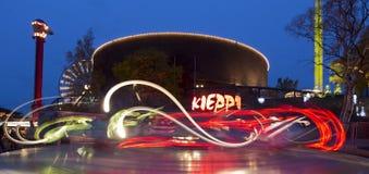 光狂欢节在Linnanmaki游乐园的 库存照片