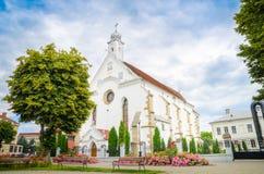光环正统哥特式教会在Bistrita,罗马尼亚 库存图片
