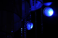光生产显示阶段工作室电视 库存图片