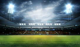 光的体育场 库存照片