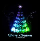 从光的圣诞树 免版税库存照片