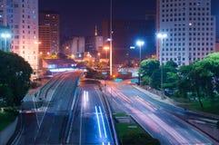光的城市 库存照片