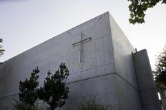 光的教会,从外部的视图 免版税图库摄影