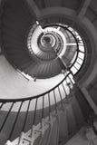 光的螺旋形楼梯 免版税图库摄影