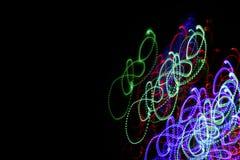 光的行动迷离 五颜六色抽象的背景 图库摄影