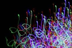 光的行动迷离 五颜六色抽象的背景 免版税库存图片