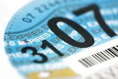 光盘公路税英国 库存照片