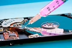 光盘困难修理 免版税库存照片
