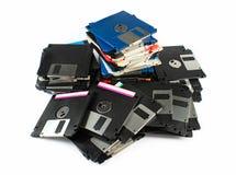 光盘磁盘堆 库存图片