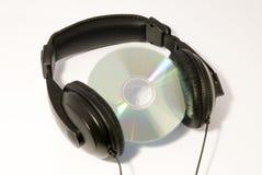 光盘耳机 库存照片