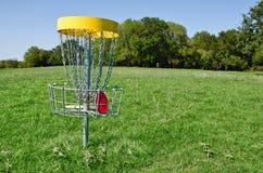 光盘高尔夫球漏洞 库存照片