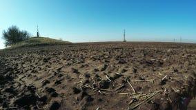 光秃的土壤春天自然 股票录像
