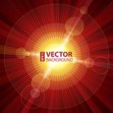 光红颜色爆炸与透镜火光的 库存照片
