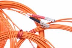 光纤patchcords LC 免版税库存图片