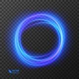 光线影响线金子传染媒介圈子 发光的轻的火圆环踪影 闪烁不可思议的闪闪发光漩涡足迹作用 免版税库存照片