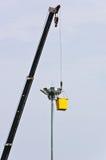 光维修服务在杆的 库存图片