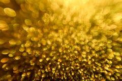 光背景,提取被弄脏的光,黄色Defocused Bokeh 免版税库存图片