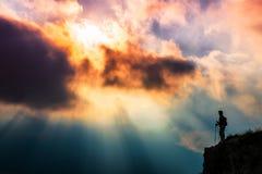 光芒神的太阳 库存照片