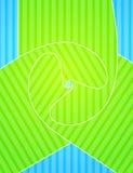 绿光蓝设计背景 免版税库存照片