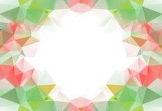 光谱多角形背景或框架 多色的彩虹 免版税图库摄影