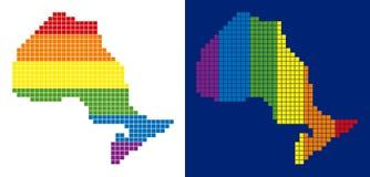 光谱映象点被加点的安大略省地图 库存例证