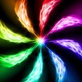 光谱火波浪。 库存图片