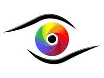 光谱眼睛显示五颜六色的背景和色彩 库存例证