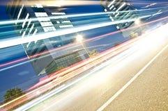 光足迹在都市上下文,布雷西亚,意大利 免版税库存图片