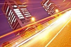 光足迹在都市上下文,布雷西亚,意大利 图库摄影