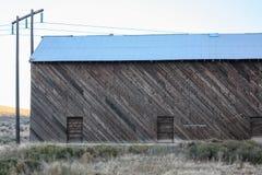 光通过谷仓在东华盛顿 库存图片