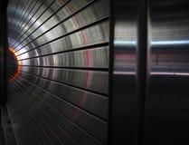光金属隧道 免版税库存图片