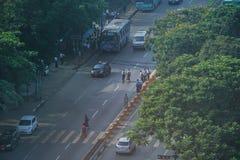 仰光风景早晨,缅甸 库存图片