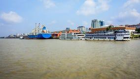 仰光,缅甸港口  库存照片