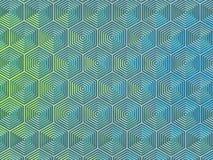 光滑的六角形 免版税库存图片