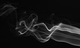 光滑的抽象烟线 免版税库存照片