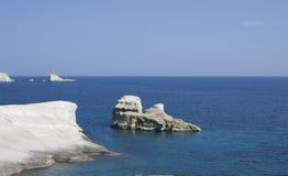 光滑的海岸线岩石 库存图片