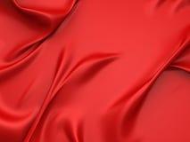 光滑的红色丝绸缎背景 库存图片