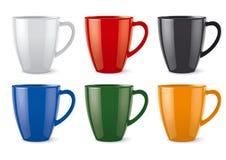 光滑的色的杯子 库存例证