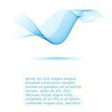 光滑的蓝色抽象波浪背景飞行物设计 免版税图库摄影