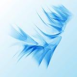 光滑的蓝色抽象波浪背景飞行物设计 库存图片