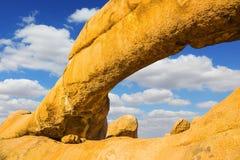 光滑的`秃头`花岗岩断层块  免版税图库摄影