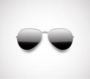 光滑的黑飞行员太阳镜设计 库存例证