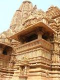 克久拉霍寺庙,印度 库存图片