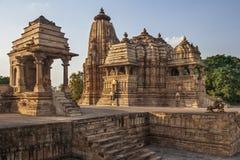 克久拉霍寺庙-中央邦-印度 免版税库存照片