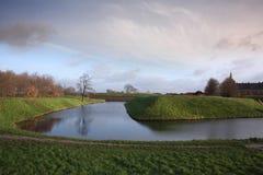 克伦堡城堡全景  库存照片