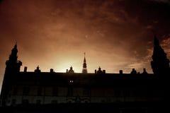 克伦堡城堡剪影 库存照片