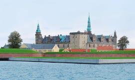 克伦堡城堡Elsinore,赫尔新哥,丹麦 免版税库存照片