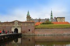 克伦堡或Elsinore城堡在哥本哈根,丹麦 库存照片