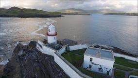 克伦威尔灯塔 瓦伦西亚岛 爱尔兰 股票录像