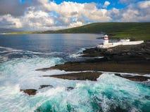 克伦威尔灯塔 瓦伦西亚岛 爱尔兰 免版税库存图片